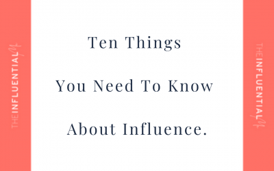 (Almost) Everything you need to know about Influence